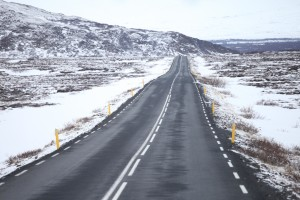 Road with snow.